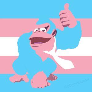 Trans flag Donkey Kong